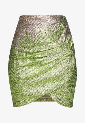 ZOE SKIRT - Spódnica mini - green glitter
