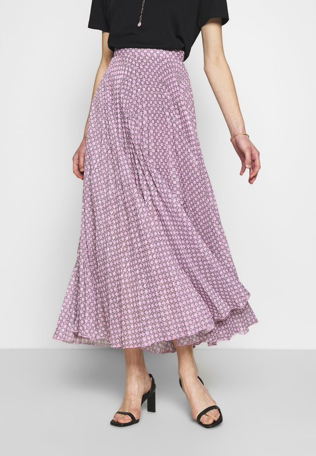 NESSASKIRT - Długa spódnica - pink