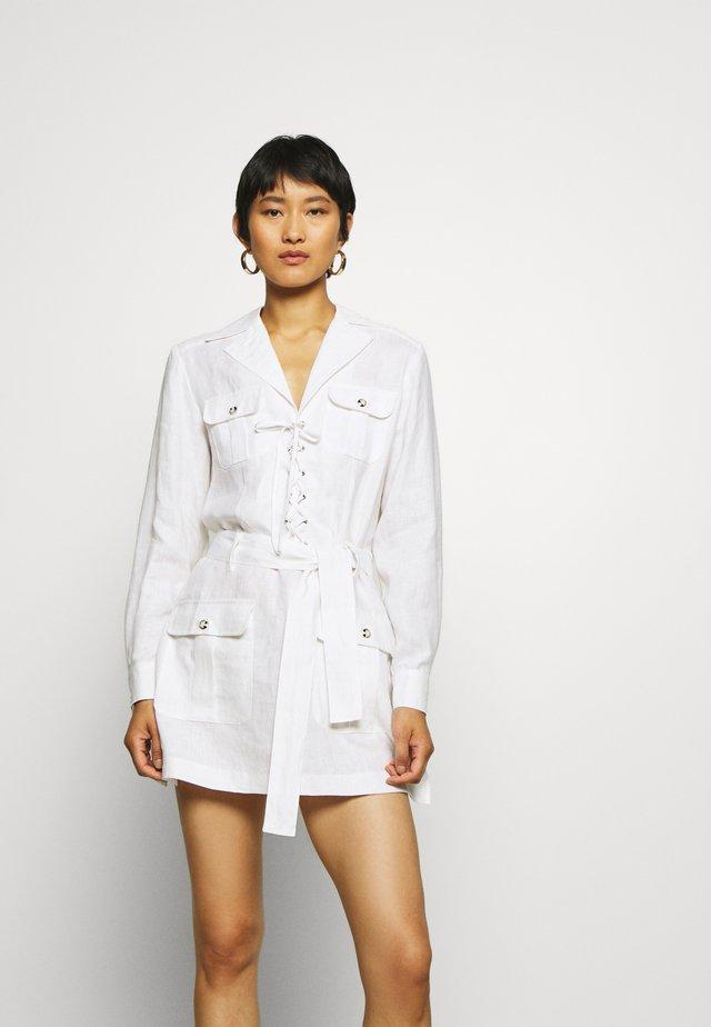 LOULOU DRESS - Korte jurk - white