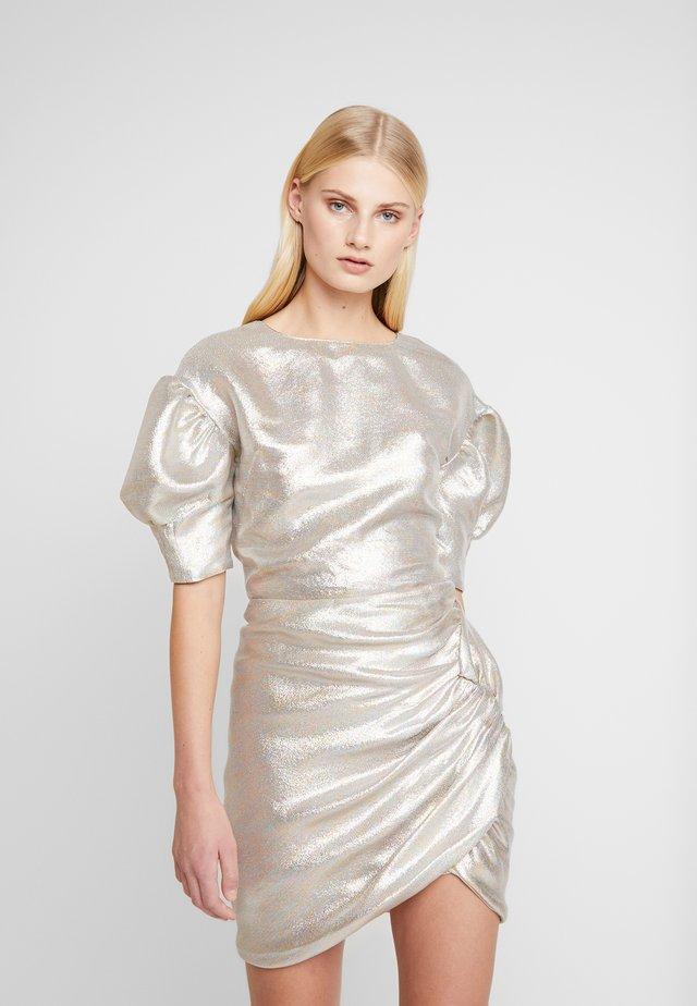 JEAN BLOUSE - Blus - silver