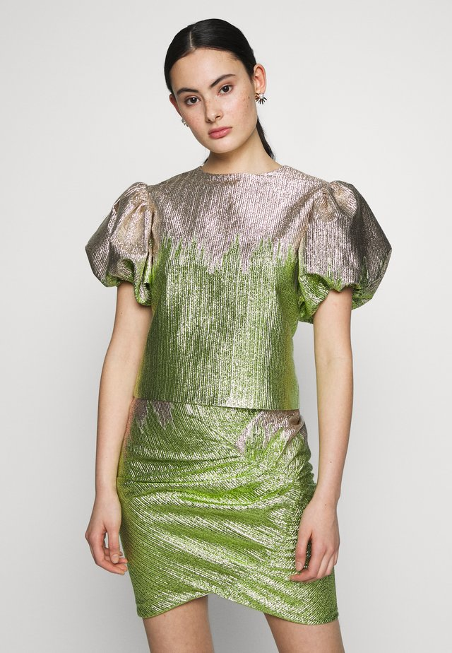 ADDISON BLOUSE - Camicetta - green glitter