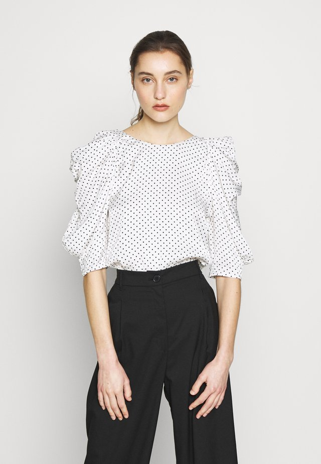 CHARLOTTE BLOUSE - Bluzka - white/black