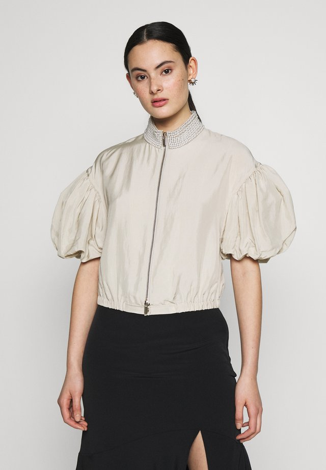 RISE BLOUSE - Button-down blouse - grige