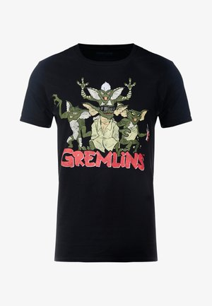 GREMLINS TEE - Triko spotiskem - black