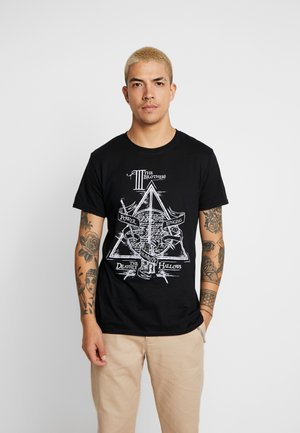 HARRY POTTER DEATHLY HALLOWS - T-shirts med print - black