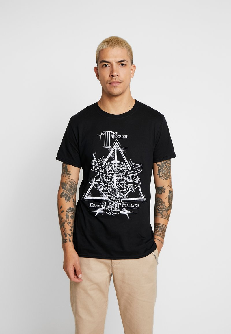 Bioworld - HARRY POTTER DEATHLY HALLOWS - T-shirt med print - black
