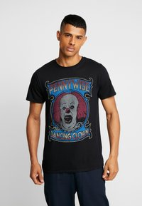 Bioworld - IT PENNYWISE CLOWN TEE - Triko s potiskem - black - 0