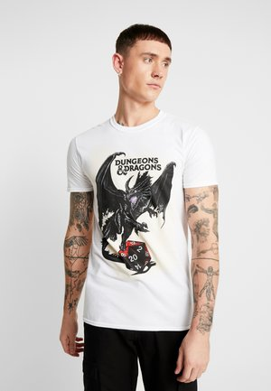 DUNGEONS & DRAGONS WINGS TEE - T-shirts med print - white