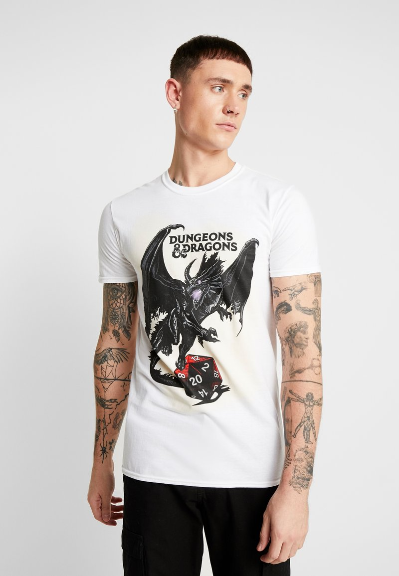 Bioworld - DUNGEONS & DRAGONS WINGS TEE - T-shirt med print - white
