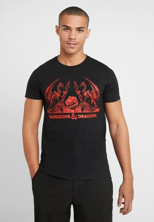 DUNGEONS & DRAGONS TEE - T-shirts med print - black