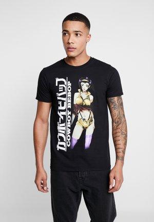 COWBOY BEBOP ANIME TEE - T-shirts med print - black