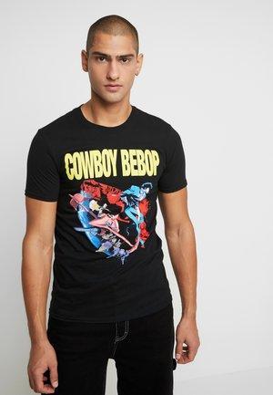 COWBOY BEBOP ANIME POSTER TEE - T-shirts med print - black