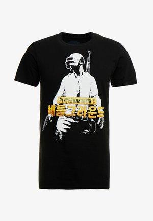 PUBG KANJI TEE - T-shirt z nadrukiem - black