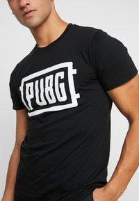 Bioworld - PUBG LOGO TEE - T-shirt med print - black - 4