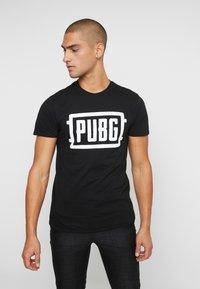 Bioworld - PUBG LOGO TEE - T-shirt med print - black - 0