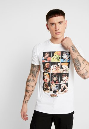 STREET FIGHTER CHARACTER ANIME TEE - T-shirts med print - black