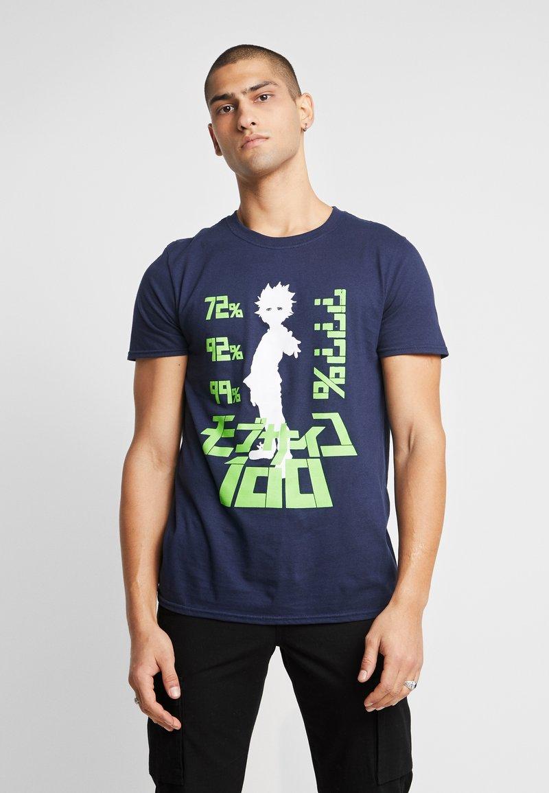 Bioworld - MOB PSYCHO TEE - T-shirts med print - navy