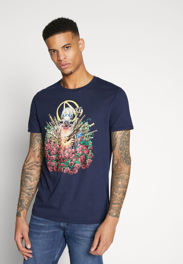 BORDERLANDS TEE - Camiseta estampada - navy