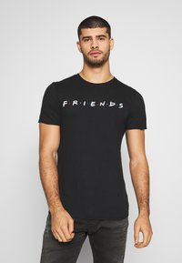Bioworld - FRIENDS LOGO TEE - Triko s potiskem - black - 0