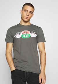 Bioworld - FRIENDS CENTRAL PERK TEE - Triko s potiskem - charcoal - 0