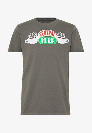 FRIENDS CENTRAL PERK TEE - T-shirt imprimé - charcoal