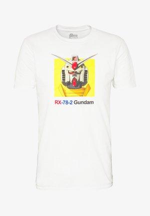 GUNDAM TEE - Triko spotiskem - white