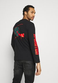 Bioworld - GUNDAM LONG SLEEVE CUFF TEE - Top s dlouhým rukávem - black - 2