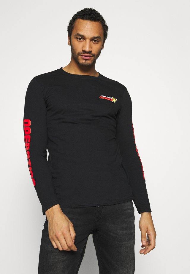GUNDAM LONG SLEEVE CUFF TEE - Topper langermet - black