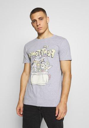 FLINSTONES TEE - Print T-shirt - grey