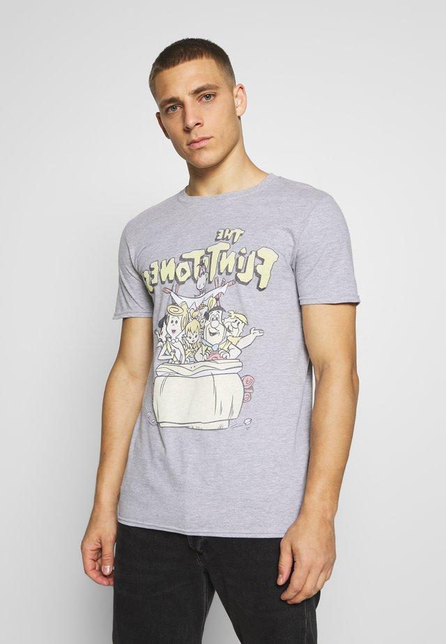 FLINSTONES TEE - T-shirt med print - grey