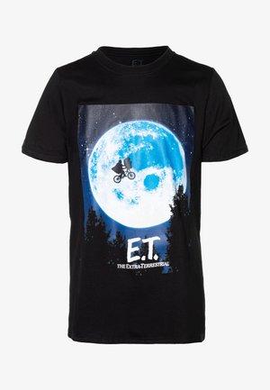 E.T. POSTER - Triko spotiskem - black