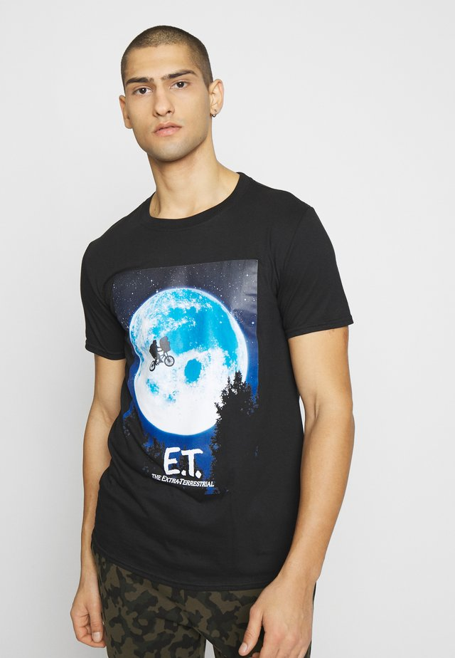 E.T. POSTER - T-shirt z nadrukiem - black