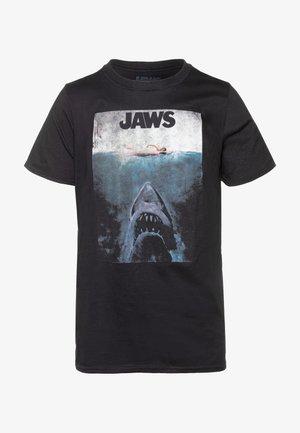 JAWS TEE - T-shirt med print - black
