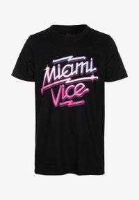 Bioworld - MIAMI VICE NEON TEE - T-shirt print - black - 3
