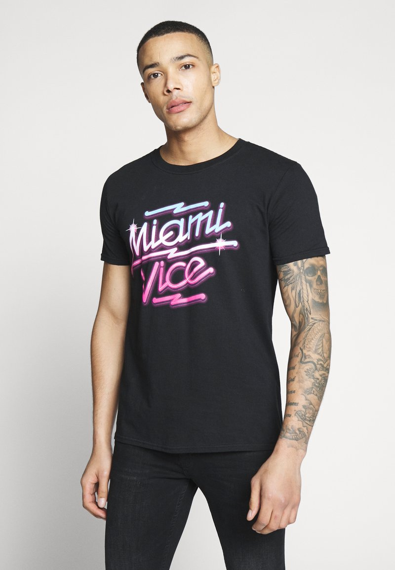 Bioworld - MIAMI VICE NEON TEE - T-shirt print - black