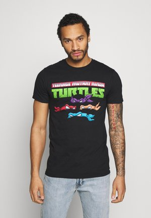 TEENAGE MUTANT NINJA TURTLES TEE - Triko s potiskem - black