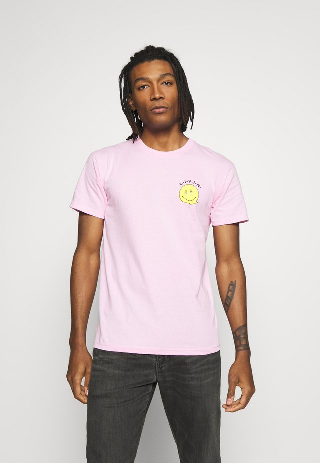 DAZED CONFUSED FRONT BACK TEE - T-shirts med print - pale pink