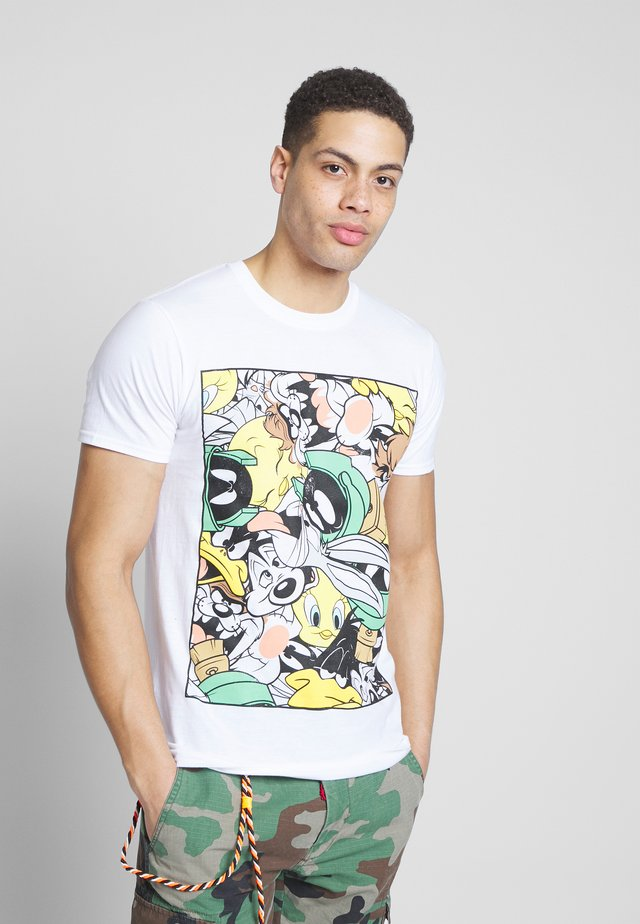 LOONEY TUNES TEE - Camiseta estampada - white