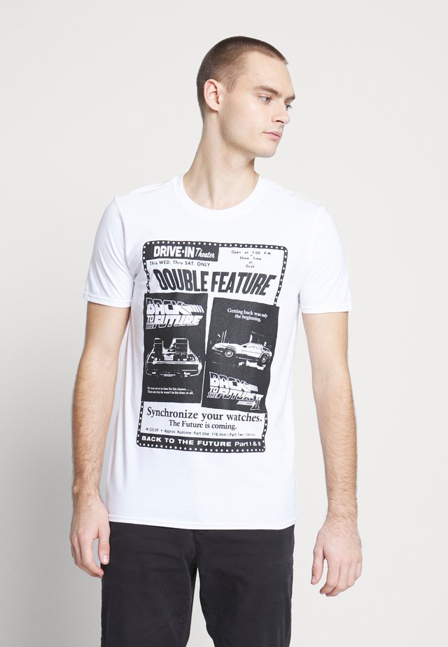 BACK TO THE FUTURE TEE - T-shirt z nadrukiem - white
