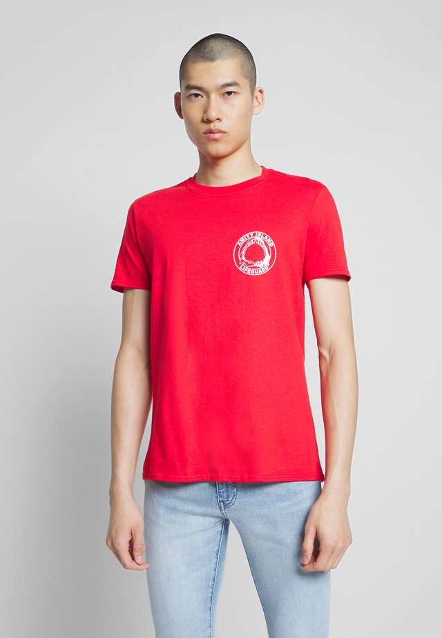 JAWS TEE - T-shirts med print - red