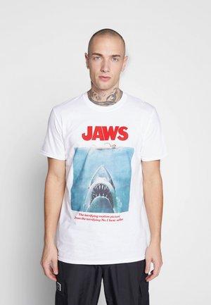 JAWS POSTER TEE - Triko spotiskem - white