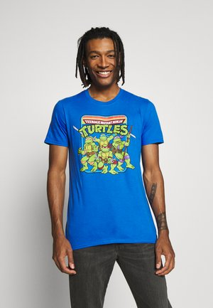 TEENAGE MUTANT NINJA TURTLES TEE - Triko s potiskem - heather blue