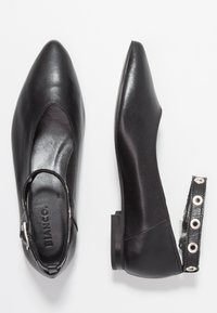 Bianco - POINTY STRAP - Ankle strap ballet pumps - black - 3