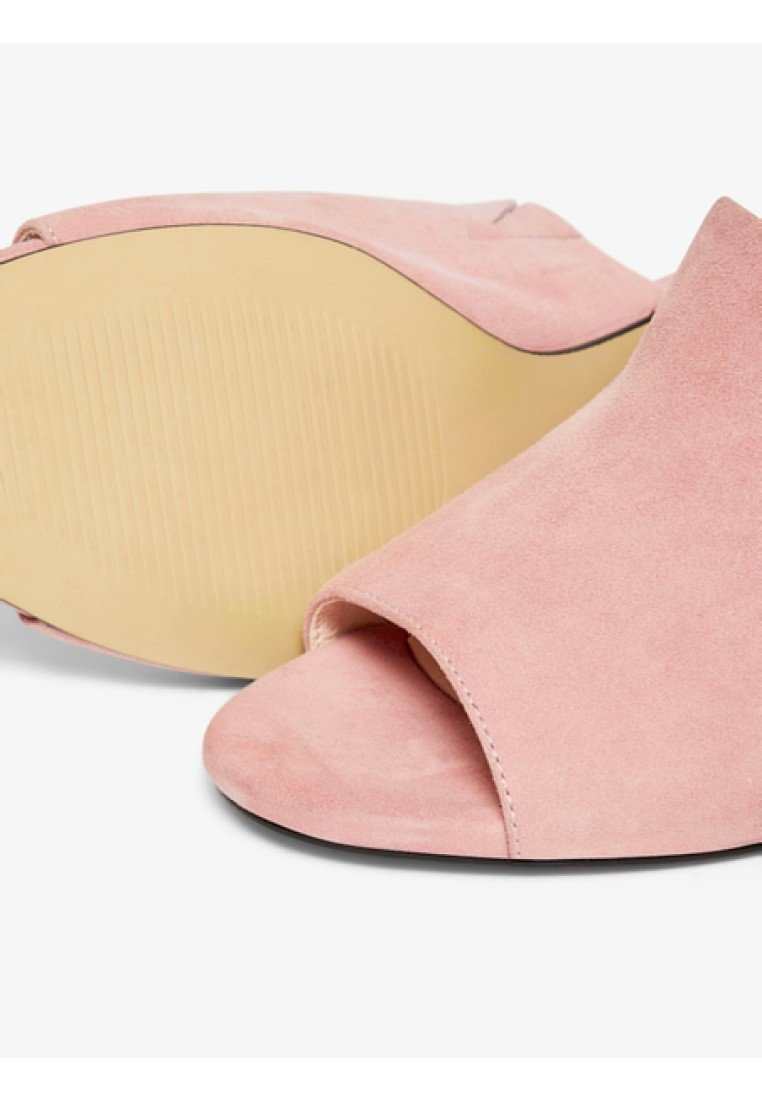 Bianco Biacate - Mules À Talons Light Pink