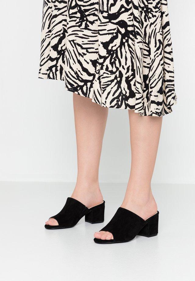 BIACATE - Heeled mules - black