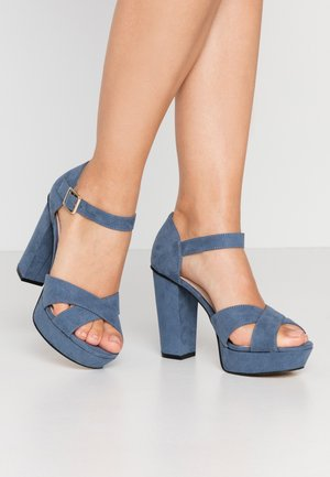 BIACARLY PLATEAU - High Heel Sandalette - light blue
