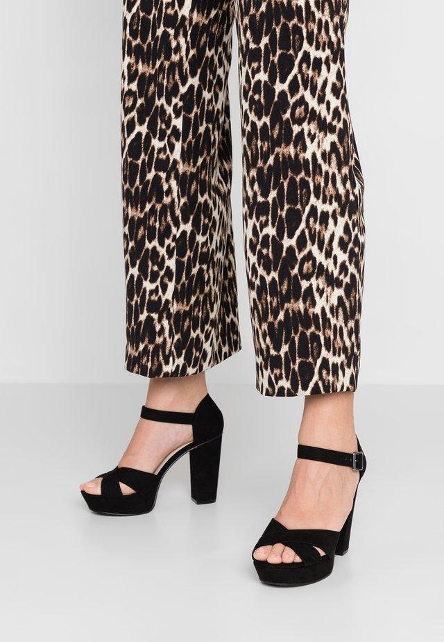 BIACARLY PLATEAU - High heeled sandals - black