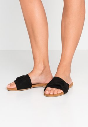 BFBONNIE BOW SLIDE - Pantolette flach - black