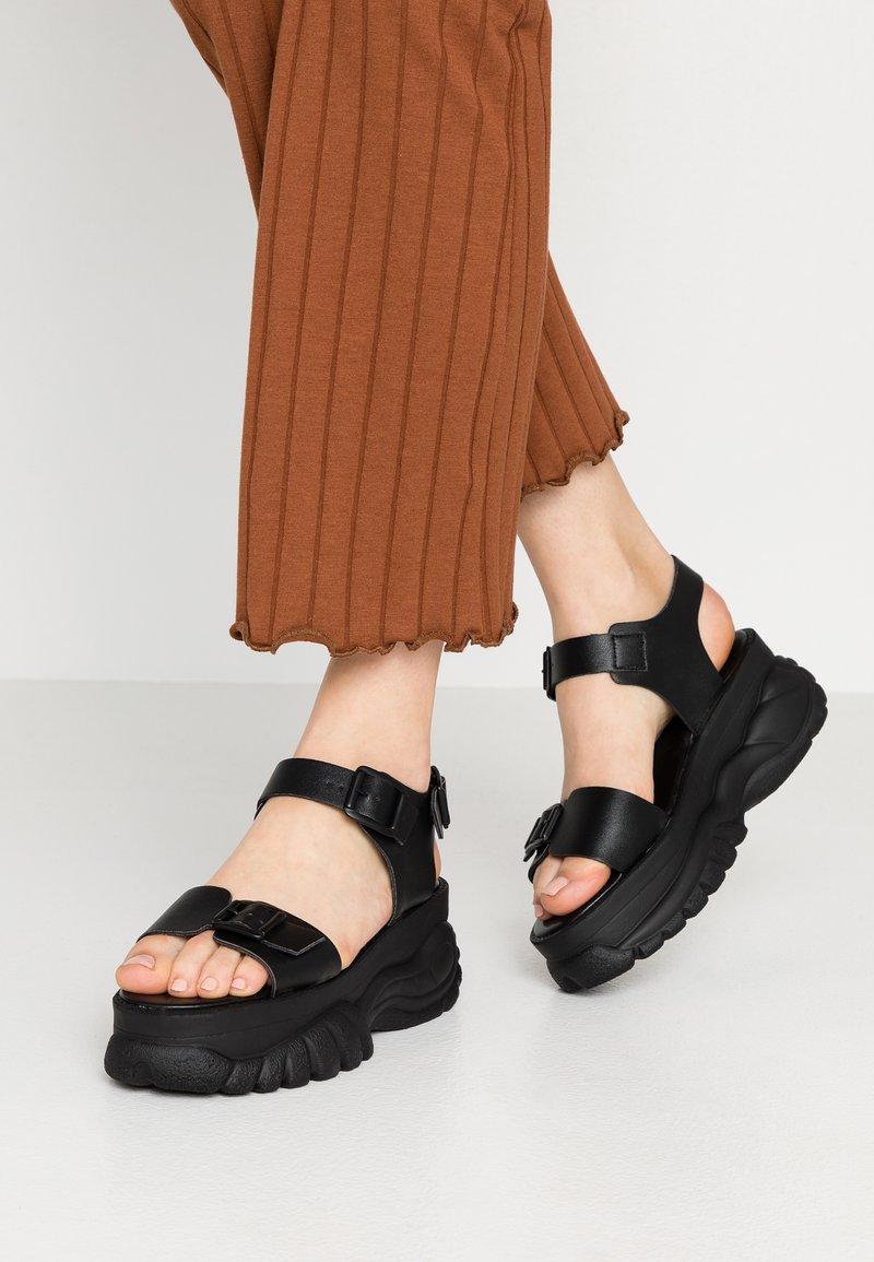 Bianco - BIACALIDA CHUNKY - Platform sandals - black