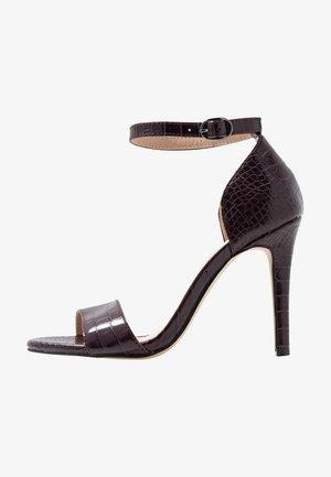 BIAAJA BASIC  - Sandalen met hoge hak - burgundy